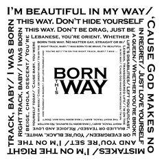 Free {Lady Gaga} Born This Way Lyrics Printable {resize for project life}