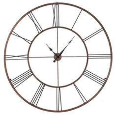 "CBK Oversized 50"" Roman Numeral Wall Clock"