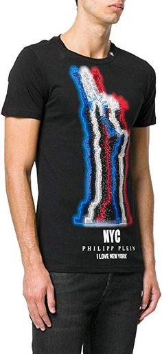 e3ff1c33f78 Philipp Plein T-Shirt - Col Rond - Manches Courtes - Homme Noir Noir -