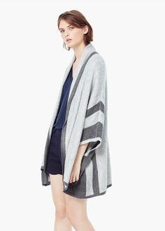 Wool-blend cape | MANGO