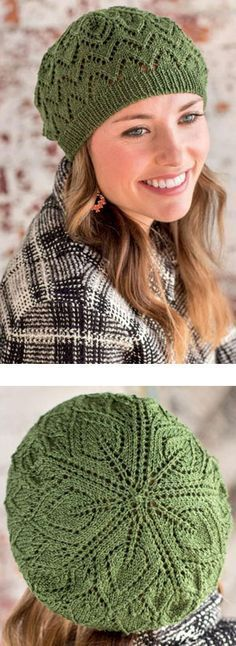 Lace beret knitting pattern free