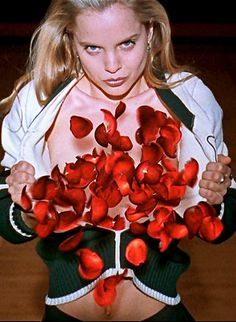 Mena Suvari in American Beauty. Directed by Sam Mendes, movie released in 1999.