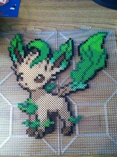 Leafeon Pokemon Perler by Khoriana on DeviantArt