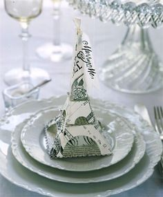 Sharp: Vintage Inspired Eiffel Tower Favor Box, Paper Candy Container in Crafts, Handcrafted & Finished Pieces, Paper Crafts Paris Party, Paris Theme, Deco Table, A Table, Paris Birthday, 50th Birthday, Paper Candy, Paris Wedding, French Wedding