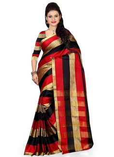Buy Multicolored Art Silk Striped Saree online from the wide collection of sari.  This Multicolored colored sari in Art Silk fabric goes well with any occasion. Shop online Designer sari from cbazaar at the lowest price.