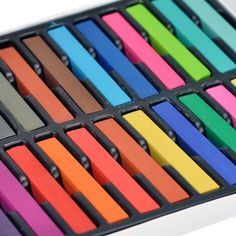 Amazon.com: 24Colors DIY Painting Non-toxic Temporary Pastel Hair Color Dye Chalk: Beauty