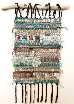 Boardwalk handwoven Saori-style wall hanging - My list of the most beautiful animals Paper Weaving, Weaving Art, Loom Weaving, Tapestry Weaving, Hand Weaving, Weaving Wall Hanging, Hanging Wall Art, Wall Hangings, Finger Weaving