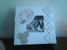 Cadeau doosje met foto en naam baby