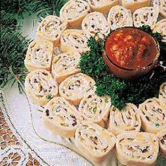 COLD APPETIZER RECIPES: Appetizer Tortilla Pinwheels Recipe