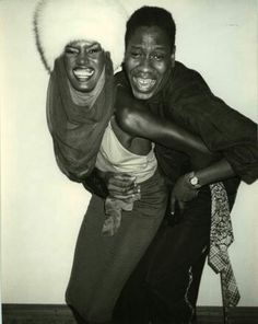 Grace Jones and André Leon-Talley at Studio 54