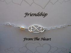 INFINITY BRACELET Silver Infinite Hearts by TheButterflyGarden7, $26.50