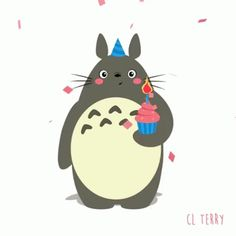 The perfect Totoro BirthdayCake HappyBirthday Animated GIF for your conversation. Discover and Share the best GIFs on Tenor. Birthday Cake Gif, Birthday Images, Happy Birthday Cards, Birthday Greetings, Birthday Wishes, Birthday Cartoon, Totoro Gif, Anime Totoro, Film Anime