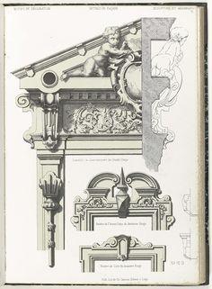Details van voorgevel, Anonymous, c. 1866 - c. 1900