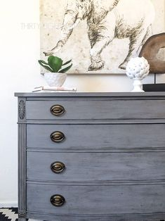 Learn how to easily blend and layer paint onto your furniture. See our FREE furniture painting techniques and layering paint tutorials to help you get a beautiful layered paint finish! Grey Furniture, Distressed Furniture, Paint Furniture, Shabby Chic Furniture, Furniture Makeover, Furniture Design, Repainting Furniture, Dresser Makeovers, Refinished Furniture