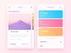 Travel designed by JackYuu. Connect with them on Dribbble; Mobile Design, App Design, Group Tours, Travel Design, User Interface, Mobile Ui, Layouts, Shots, Popular