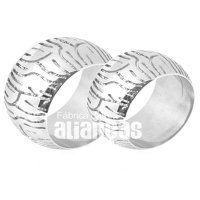 Alianças de Compromisso em Prata 0,950 k  - FA-AG-860