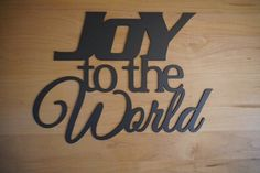 This item is unavailable Personalized Metal Signs, Custom Metal Signs, Christmas Signs, Christmas Decor, Plasma Cutter Art, Teacher Favorite Things, Joy To The World, Steel Wall, Word Art