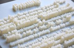 Textscapes use 3D printed letters to create actual cityscapes, taking words and letters and giving them life off of the page, as lively as the cities they represent.