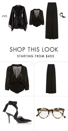 """""""Untitled #5461"""" by amberelb ❤ liked on Polyvore featuring Maria Lucia Hohan, Christopher Kane, Cutler and Gross and Agent Provocateur"""