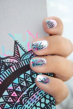 Having short nails is extremely practical. The problem is so many nail art and manicure designs that you'll find online Fabulous Nails, Perfect Nails, Gorgeous Nails, Cute Nail Art, Cute Nails, Pretty Nails, Best Nail Art Designs, Beautiful Nail Designs, Fancy Nails