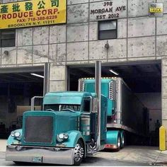 Peterbilt custom 379 with matching reefer