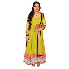 Party Wear Embroidered Georgette Green Anarkali Salwar Suit -  EBSFSK302014 ( EBSFSK30 )