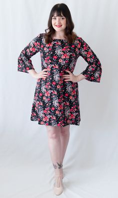 Tilly and the Buttons Coco Dress with Ruffle Sleeve Hack