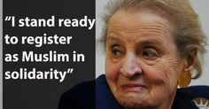 Madeleine Albright has a strong response to President Trump's immigration policies http://rite.ly/jLte