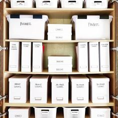 Trendy Home Office Organization Closet Storage Ideas Office Supply Organization, Storage Organization, Organizing Office Supplies, Storage Ideas, Home Office Closet, Supply Room, Organizing Labels, Organising, The Home Edit