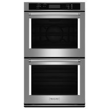 30 Inch Wide Electric 10.0 Cu. Ft. Double Wall Oven with Even-Heat True Convection Upper Oven and Thermal Lower Oven #WallOvens