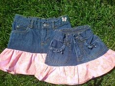 Jeans too small and need a new skirt? Recycling to the rescue!