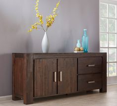 The Kingston 2 Door Buffet has been designed with a clean contemporary look suiting an urban or coastal setting. Shop now, only at Fantastic Furniture! Door Storage, Cupboard Storage, Storage Spaces, Value Furniture, Bed Furniture, Dining Room Buffet, Furniture Assembly, Wood Construction, Kingston