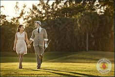 Engagement - golf course and amazing style!! Would make for a good session since we're marrying at a golf course!