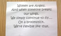 Angels with broomsticks