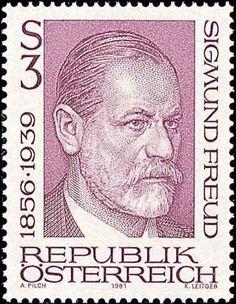 Sigmund Freud auf Briefmarke aus Österreich http://d-b-z.de/web/2014/09/23/sigmund-freud-traeume-briefmarken/