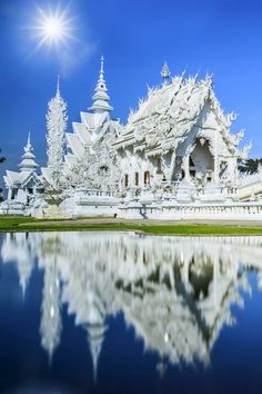 Rong Khun temple, Chiang Rai province, northern Thailand. Find out more hidden gems of Thailand on TheCultureTrip.com by clicking the image!