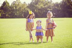 Polka Dots and Purple and Gold!  www.orientexpressed.com  #lsu #football