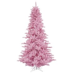 Create the perfect setting for placing holiday presents with this Vickerman unlit Christmas tree, designed to resemble a fir tree. The sturdy metal stand provides balance and stability. Pink fir tree