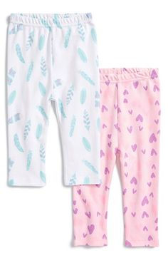 Free shipping and returns on ROSIE POPE Print Cotton Pants (Set of 2) (Baby Girls) at Nordstrom.com. Build baby's wardrobe with this duo of soft cotton leggings designed with playful colors and prints. An elastic waist ensures a comfy fit and allows for easy style changes.