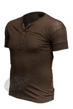 Sheehan & Co. Henleys, Henley Shirts, Mens Fashion, Fashion Trends, Vintage Inspired, Dress Up, Fabrics, Usa, Model