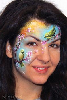 Olga Meleca || spring bird design, love the colors!