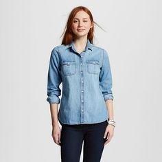 41b82540cd Expect More. Pay Less. Jean Button Up ShirtWomen ...