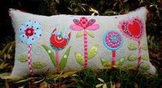 This whimsical bolster pillow is a simple project to make as a gift for someone special or just to spoil yourself!