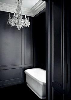 Nothing compares to black and white bathroom design interior decorating Interior Simple, Black And White Interior, White Interior Design, Black White Bathrooms, White Rooms, Bathroom Black, Modern Bathroom, Master Bathroom, Charcoal Bathroom