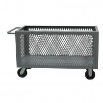 "DURHAM 4-Sided Stock Cart - 36""Wx24""Dx29-1/2""H - Mesh Sides $392.00 each #manufacturing #cart www.librami.com"