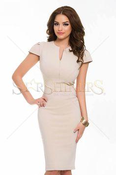 PrettyGirl Costly Cream Dress