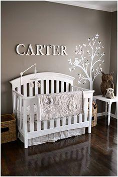 Cuartos de bebés con decoración de arboles/ babies room with trees decoration