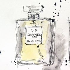 "69 gilla-markeringar, 3 kommentarer - Carina Sundberg (@serendipitybyc) på Instagram: ""Yellow- the last one #supergirl #chanel #perfume #ink #art #arte #art_we_inspire #draw #design…"""