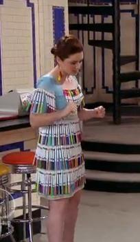 "Harper's marker pen dress from ""Wizards of Waverly"""