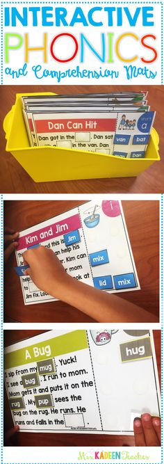 Word family interactive phonics mats. Let the fun begin with engaging story mats. Students will have fun reading the fun stories and completing the stories with the right pieces. Differentiated with picture help and no picture help so you can fit the needs of your students.